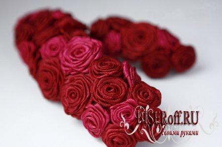 Мастер-класс розы из атласных лент